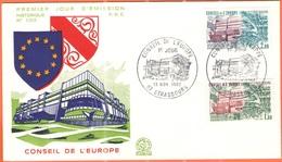 FRANCIA - France - 1981 - Conseil De L'Europe - FDC - Strasboug - 1981
