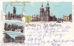 SWITZERLAND-SCHWEIZ-SUISSE-SVIZZERA-ST. GALLEN-GRUSS AUS-CARTOLINA VIAGGIATA IL 26-5-1901 - SG St. Gall