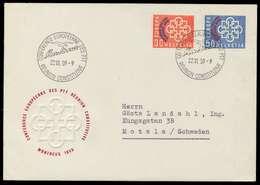 SCHWEIZ 1959 Nr 681-682 BRIEF FDC X7B2502 - Schweiz