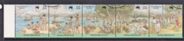Cocos Islands 1988 Australia Bicentenary Strip Of 5 Used - Cocos (Keeling) Islands