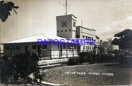 114981 EQUATOR GUAYAQUIL YACHT CLUB POSTAL POSTCARD - Ecuador