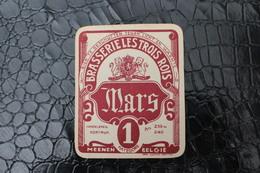 Brasserie - Brouwerij  - Etiquettes Bière - Beerlabel - Lot De 3 Etiquettes / Brasserie Les Trois Rois - Menin - Meenen - Bier