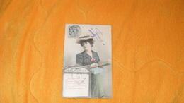 CARTE POSTALE ANCIENNE CIRCULEE DE 1907.../ BUREAU DE PLACEMENT...CACHETS + TIMBRE - Femmes
