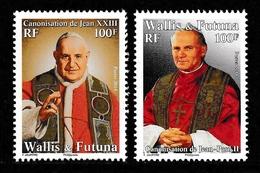 WALLIS & FUTUNA ISLANDS 2014 Popes John XXIII & John Paul II: Set Of 2 Stamps UM/MNH - Popes