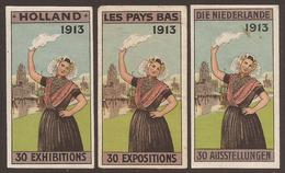 NETHERLANDS. THREE EXHIBITION LABELS. - Other