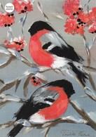 Postal Stationery - Birds - Bullfinches On Rowan - Cancer Foundation - Suomi Finland - Postage Paid - RARE - Finlandia