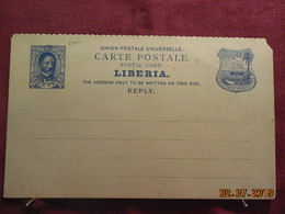 Carte Réponse Entier Postal - Liberia