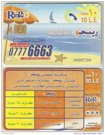 EGF17503 Ringo Egypt Prepaid Phonecard ( Chip ) 10 Pounds / Internet Plus - Egypt