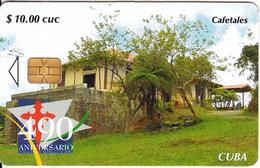 CUBA - Cafetales, 490 Aniversario Fundacion Of Santiago De Cuba, Tirage 35000, 06/05, Used - Landschappen