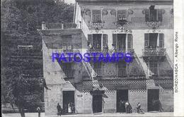 115026 ITALY BORZONASCA HOTEL ALBERGO ROMA CIRCULATED TO ARGENTINA POSTAL POSTCARD - Italy