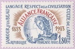 N° Yvert & Tellier 2257 - Timbre De France (Année 1983) - MNH - Centenaire Alliance Française - Symboles - Francia