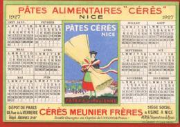 Nice - Pates Alimentaires CERES- CERES MEUNIER Frères- Calendrier 1927 - Recto Verso -Paypal Sans Frais - Artigianato