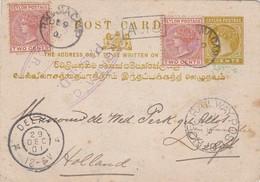 1901: Ceylon Post Card To Netherlands - Sellos