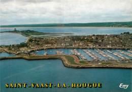 50 - SAINT VAAST LA HOUGUE -  VUE GENERALE AERIENNE - Saint Vaast La Hougue