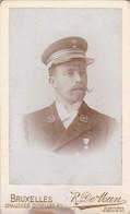 CDV De Man Bruxelles (sous) Officier Soldat Armée Belge Congo Belge étoile Léopold II - Guerre, Militaire