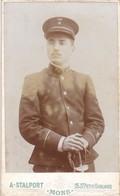 CDV Stalport Mons (sous) Officier Soldat Armée Belge Congo Belge étoile Léopold II - Guerre, Militaire
