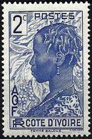 Ivory Coast 1936 - Mi 113 - YT 110 ( Baoule Woman ) MNH** - Nuovi