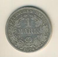 1 Mark 1874,D, KAISERREICH, Silber (33) - 1 Mark