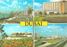AE - Dubai - Multivues (4) / Multiview / Mehrbildkarte - Ed. Awni N° 118 (circ. 1992) - Emirati Arabi Uniti