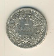 1 Mark 1907,F, KAISERREICH, Silber (34) - 1 Mark