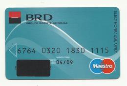 Romania BRD Bank(Romanian Development Bank), Wave, Exp. Date 2009. - Cartes De Crédit (expiration Min. 10 Ans)
