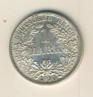 1 Mark 1910,F, KAISERREICH, Silber (35) - 1 Mark