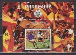 Paraguay, World Cup 1982, S/s Block ( A Or B) - Fußball-Weltmeisterschaft