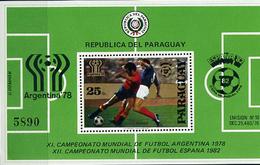 Paraguay, 1979 World Cup 1978 - 1982 S/s Block - Fußball-Weltmeisterschaft
