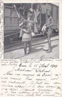 Congo Belge Les Voyageurs En Voiture Circulée En 1909 - Congo Belge - Autres