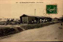 LE CAMP DE CERCOTTES...UNE CANTINE...CPA ANIMEE - Barracks