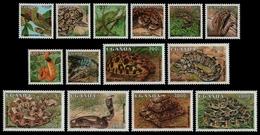 Uganda 1995 - Mi-Nr. 1534-1547 ** - MNH - Reptilien / Reptiles - Uganda (1962-...)