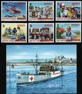 Jersey 2013 - Mi-Nr. 1729-1734 & Block 106 ** - MNH - Rotes Kreuz / Red Cross - Jersey