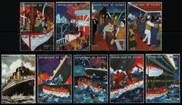 Guinea 1998 - Mi-Nr. 1901-1909 ** - MNH - Schiffe / Ships - Titanic - Guinea (1958-...)