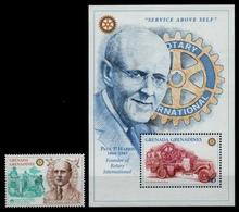 Grenada-Grenadinen 1997 - Mi-Nr. 2470 & Block 387 ** - MNH - Rotary - Grenada (1974-...)
