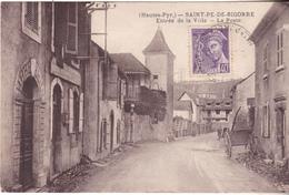 BAC19-  SAINT PE DE BIGORRE EN HAUTES PYRENEES  ENTREE DE LA VILLE  LA POSTE   CPA  CIRCULEE - Saint Pe De Bigorre