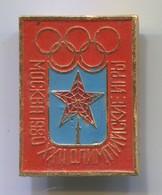 Olympic Olympiade - Moscow Russia 1980. Vintage Pin, Badge, Abzeichen, D 35 X 25 Mm - Olympic Games
