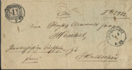1871 LOEBSCHÜTZ GerichtsBf M.1 Gr. NDP N. Hultschin - Germania
