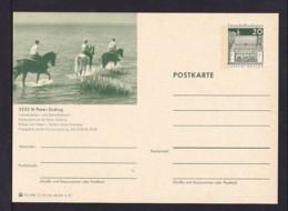 20 Pf. Bild-GS Pferde St. Peter-Ording   Ungebraucht - Chevaux