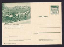 20 Pf. Bild-GS Pferd Mit Kutsche Rothnburg/Tauber  Ungebraucht - Chevaux