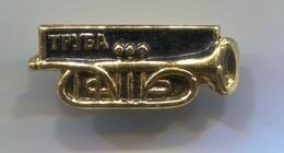 Truba Trumpet - Music Instrument, Vintage Pin, Badge, Abzeichen - Música