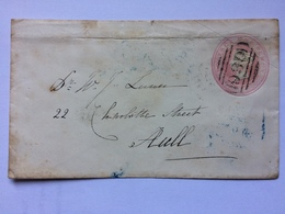 GB 1d Pink Cover With Silk Thread 1852 York To Hull - Covers & Documents
