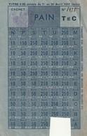 Rare Carte Alimentation Pain Avril 1941 - 1939-45