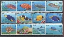 Maurice **   N° 946 à 957 -  Poissons - Mauritius (1968-...)