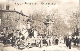 FR13 AIX EN PROVENCE - Carte Photo Carnaval - Malborough - Animée - Belle - Carnaval
