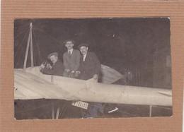 CPA Carte Photo, Aviateurs, Avion, Planeur, 188 - Aviateurs