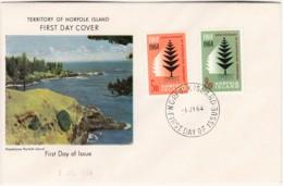 Norfolk Island 1964 Australian Territory Anniversary Unaddressed FDC - Norfolk Island
