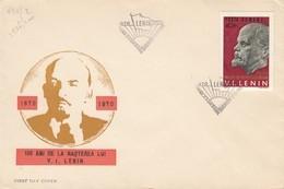 LETTRE COVER. FDC 1970 ROMANA LENIN - 1948-.... Républiques