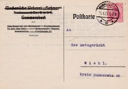 Karte Aus Gummersbach 1921 - Storia Postale