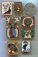 Circus Zirkus Cirque - Russian Vintage Pin, Badge, Abzeichen, 7 Pcs - Comics
