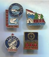SCOUTING, SCOUTISME, BOY SCOUT - Russian Vintage Pin, Badge, Abzeichen, 4 Pcs - Associazioni